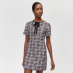 Warehouse - Dree tweed tie neck dress