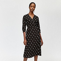 Warehouse - Spot print midi dress