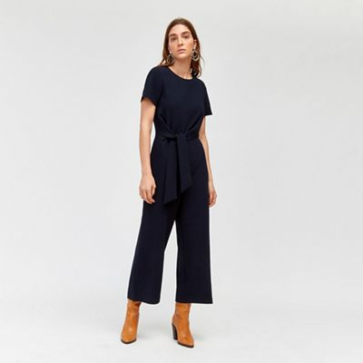 Warehouse   Side Knot Jumpsuit by Warehouse