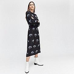 Warehouse - Star tree print midi dress
