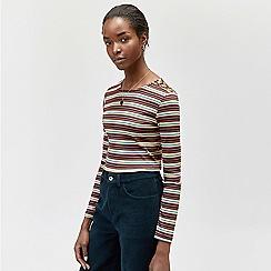 Warehouse - Rainbow stripe long sleeves top