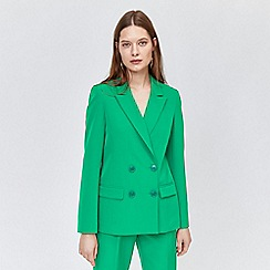 Warehouse - Double Breasted Crepe Blazer