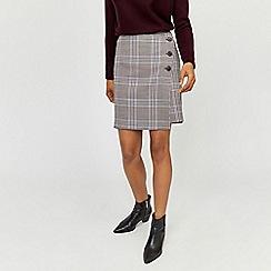 Warehouse - Pelmet check skirt