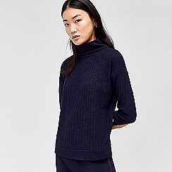 Warehouse - Cosy rib roll neck top