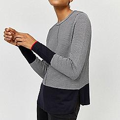 Warehouse - Curve hem mini stripe jumper