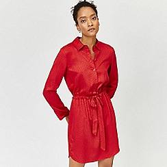 Warehouse - Letter print shirt dress