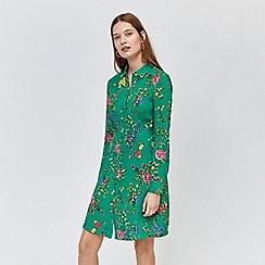 Warehouse - Verity floral shirt dress