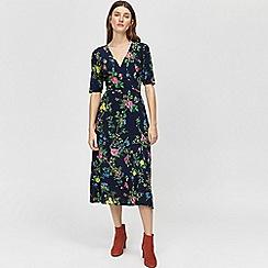 Warehouse - Verity floral midi wrap dress