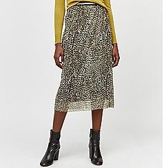 Warehouse - Animal print mesh skirt