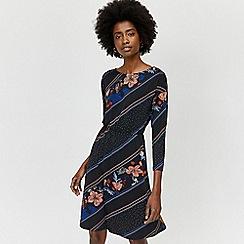 Warehouse - Savannah button shoulder dress