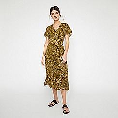 Warehouse - Leopard Button Through Dress