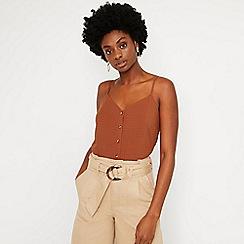 Warehouse - Textured Button Through Camisole