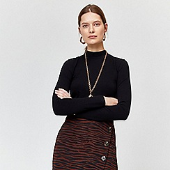 Warehouse - Long sleeve funnel neck top