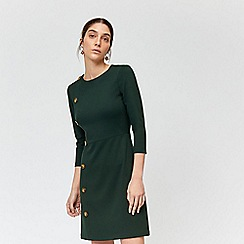 Warehouse - Button side 3/4 sleeves dress