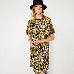 Warehouse - Leopard Tie Front Dress