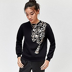 Warehouse - Leopard placement sweat
