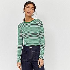 Warehouse - Stripe Rib Long Sleeve Top