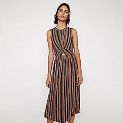 Warehouse - Twist Front Stripe Dress