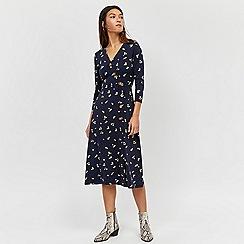 Warehouse - Ditsy button down midi dress