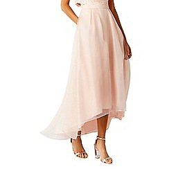 Coast - Blush pink  Iridessa  organza high low skirt