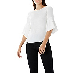 Coast - Ivory 'anais' bell sleeve statement top