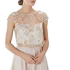 Coast - Champagne floral sequin 'Nicia' bridesmaid top