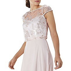 Coast - Blush pink floral sequin 'Nicia' bridesmaid top