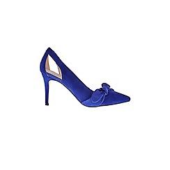 Coast - Cobalt blue 'Elina' bow court heel