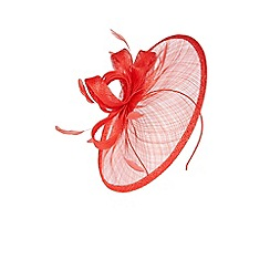 Coast - Red 'Amedee' pretty knot design fascinator