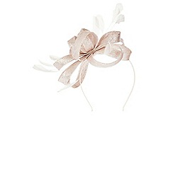 Coast - Blush 'Celeste' feather loop fascinator