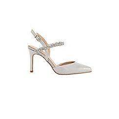Coast - Grey 'iris' embellished heel sandals