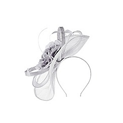 Coast - Silver 'Valeta' rose fascinator
