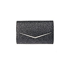 Coast - Black 'Rue' glitter clutch bag