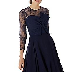 Coast - Navy lace 'Mylene' bow bridesmaid top