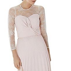 Coast - Blush pink lace 'Mylene' bow bridesmaid top