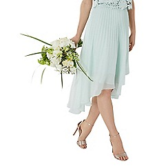 Coast - Mint 'Amelia' pleated midi bridesmaid skirt