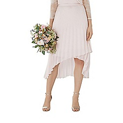 Coast - Blush pink 'Amy' pleated midi bridesmaid skirt
