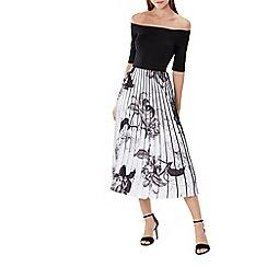 Coast - Horatio print pleated dress