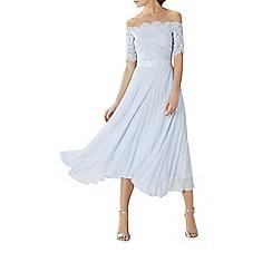 Coast - Pale blue lace 'Imi' bardot bridesmaid dress
