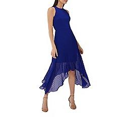 Coast - Cobalt 'Ruby' sleeveless pleated midi dress