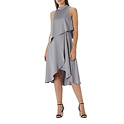 Coast - Grey 'Jasmine' knee length soft tiered dress