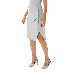 Coast - Grey 'Florina' ruffle pencil skirt