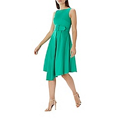 Coast - Green 'Isabelle' belted cotton dress