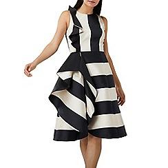 Coast - Mono stripe 'Kemmy' ruffle dress