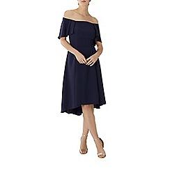 Coast - Navy blue 'Betty' bardot midi bridesmaid dress