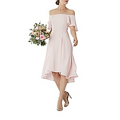 Coast - Blush pink 'Betty' bardot midi bridesmaid dress