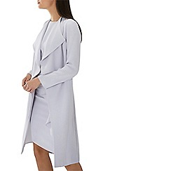 Coast - Silver 'Shanie' drape detail longline jacket