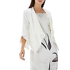 Coast - Ivory drape 'Charlotte' bell sleeve jacket