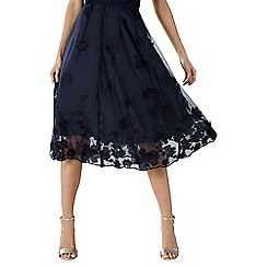 Coast - Navy embroidered floral lace 'Neive' bridesmaid skirt