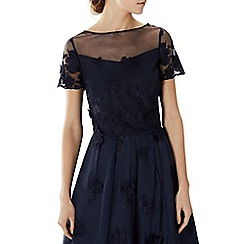 Coast - Navy embroidered floral lace 'Neive' bridesmaid top